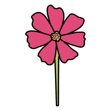 beautiful flower decorative icon vector illustration design