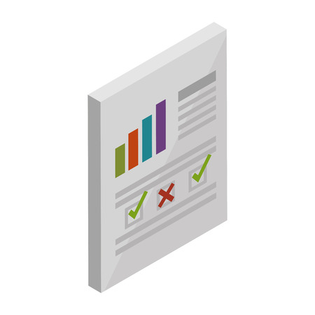 finance document paper icon vector illustration design Vectores