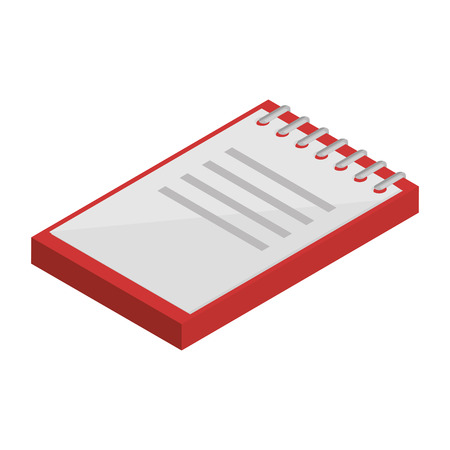 office notebook isometric icon vector illustration design Illustration