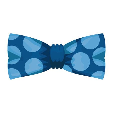 bowtie elegant male accessory vector illustration design
