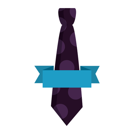 necktie elegant with ribbon fathers day icon vector illustration design