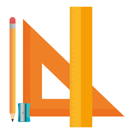 triangular geometric rules and pencil school vector illustration design Illustration