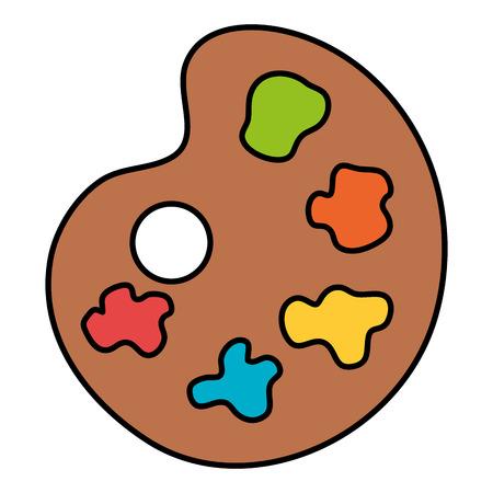 paint colors pallette icon vector illustration design