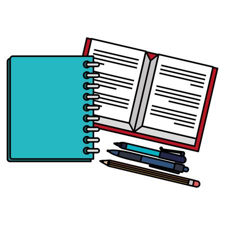 notebooks school with pencil vector illustration design Ilustração