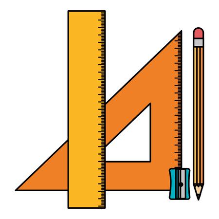 triangular geometric rules and pencil school vector illustration design Ilustrace