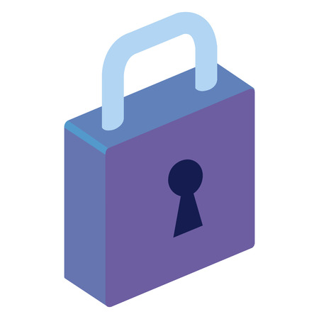 isometric padlock isometric icon vector illustration design Stock Vector - 101577983