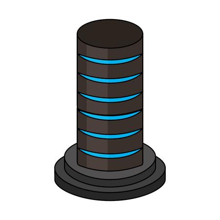data server hosting storage isometric design vector illustration