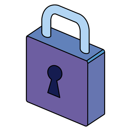 isometric padlock isometric icon vector illustration design