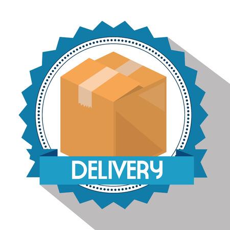 delivery service box carton vector illustration design Illustration