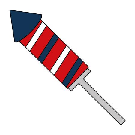 american independence day rocket fireworks vector illustration 일러스트