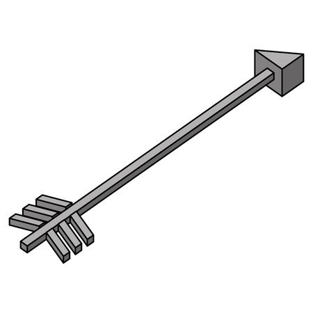isometric arrow goal direction icon vector illustration