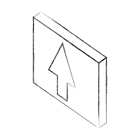 upload arrow button web isometric vector illustration sketch 스톡 콘텐츠 - 101616512