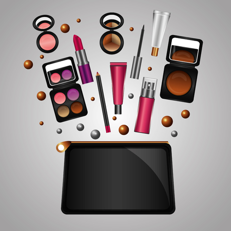 cosmetic makeup products beauty fashion set vector illustration Stock fotó - 101616115