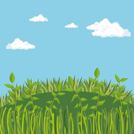 rainforest jungle natural scene vector illustration design Foto de archivo - 101665586
