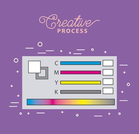 pantone swatch color working process tools vector illustration
