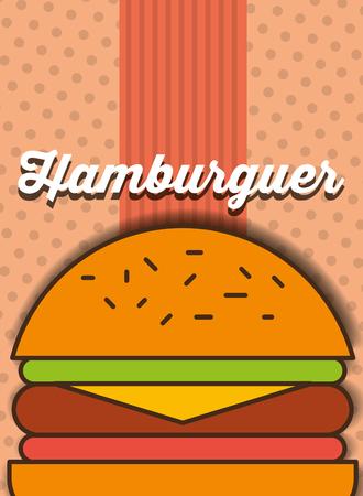 hamburger fast food menu restaurant vector illustration Illusztráció