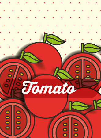 vegetable tomato on the dotted background vector illustration 向量圖像