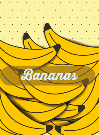 fruit banana on the dotted background vector illustration 版權商用圖片 - 101684566