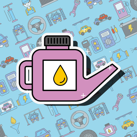 car service engine oil canister tool vector illustration Illustration