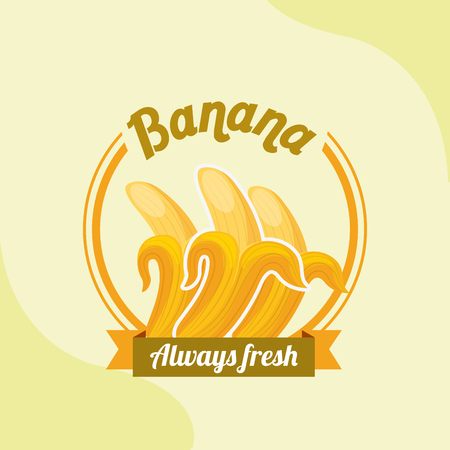 fruit banana always fresh emblem vector illustration 版權商用圖片 - 101810857