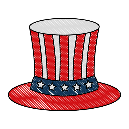 united states of america hat vector illustration design Illustration