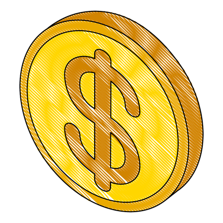 money coin isometric icon vector illustration design