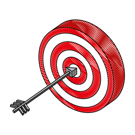 target with arrow isometric icon vector illustration design