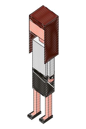 elegant businesswoman isometric icon vector illustration design Illustration