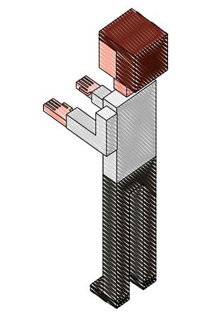 elegant businessman isometric icon vector illustration design