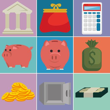 money financial set icons vector illustration design Stock Vector - 101821966
