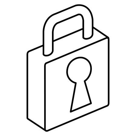 isometric padlock isometric icon vector illustration design Foto de archivo - 101822061