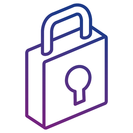 isometric padlock isometric icon vector illustration design