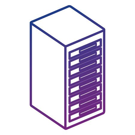 tower server isometric icon vector illustration design