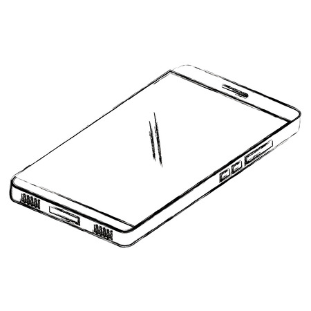 tablet device isometric icon vector illustration design  イラスト・ベクター素材