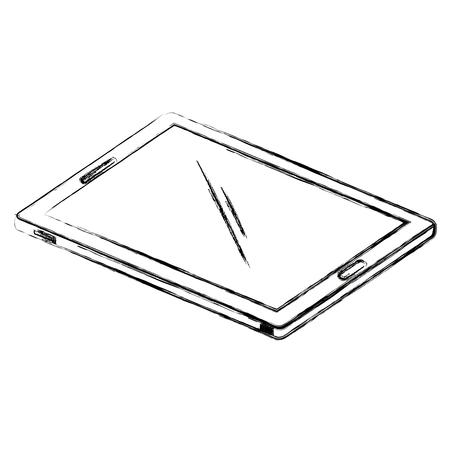 tablet device isometric icon vector illustration design 일러스트