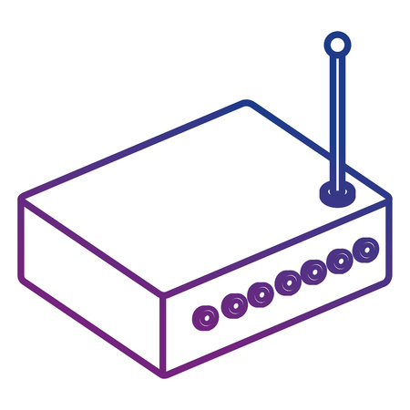 router device isometric icon vector illustration design
