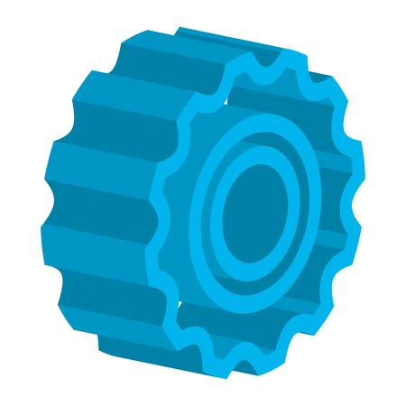 gear machinery isometric icon vector illustration design