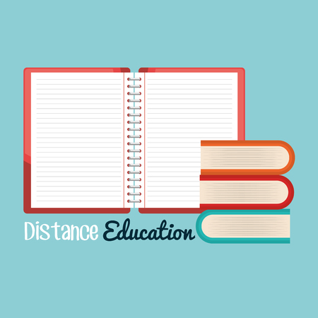 on line education with notebooks vector illustration design Imagens - 101872063