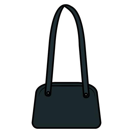 elegant female handbag icon vector illustration design