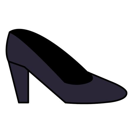 female heel shoe icon vector illustration design