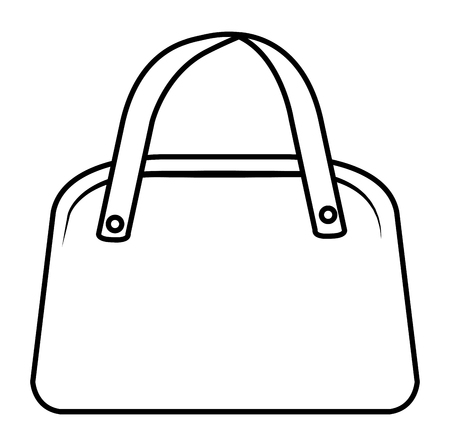 elegant female handbag icon vector illustration design