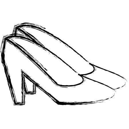 female heel shoes icon vector illustration design
