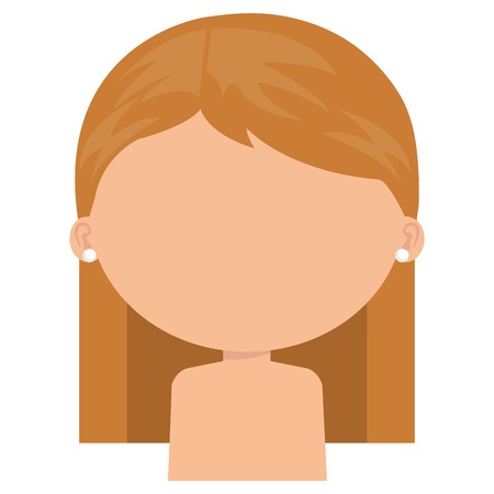 little girl daughter shirtless character vector illustration design