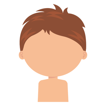 little boy son shirtless character vector illustration design Stock Vector - 101877925