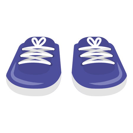 pair shoes baby icon vector illustration design