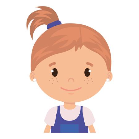 little girl daughter character vector illustration design Stock Vector - 101881206
