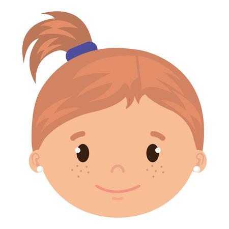 little girl daughter head character vector illustration design Stock Vector - 101878066
