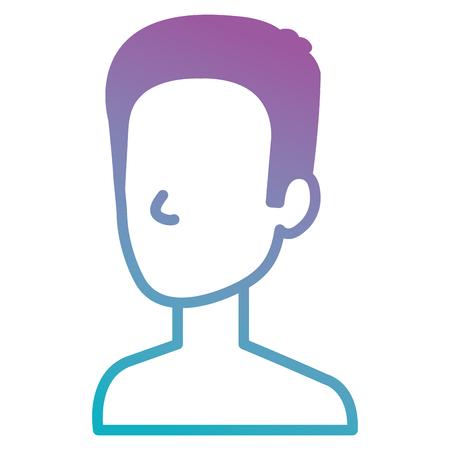 young man shirtless avatar character vector illustration design