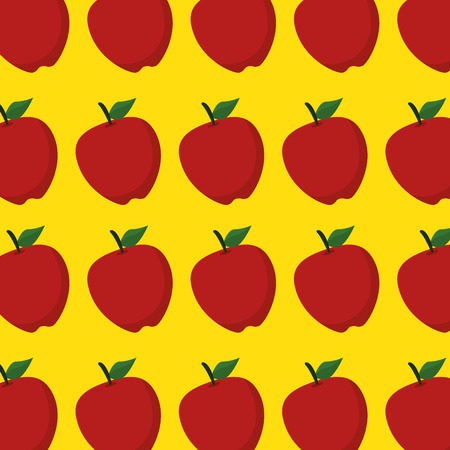 fresh apples fruits pattern background vector illustration design