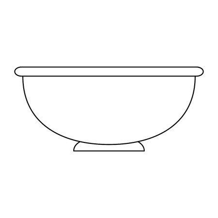 kitchen bowl empty icon vector illustration design